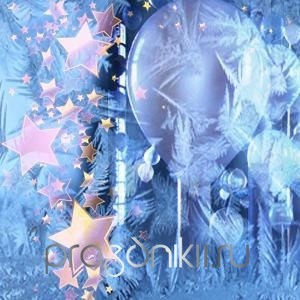 Зимний праздничный фон